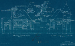 Early 20th century blueprints.